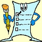 cartoon picture of a  list
